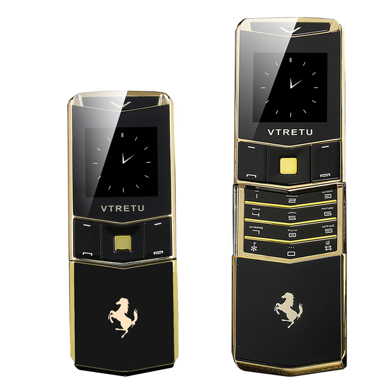Luxury Slider Mobile Phone Metal Body Dual Sim Cellphone MP3 FM Radio Camera Bluetooth Hebrew Russian Phone V05
