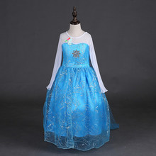 Samgami baby 2018 girls dress Elsa and Anna Dress Custom Cosplay Summer Princess Costume for Children dress Girls party wearing(China)
