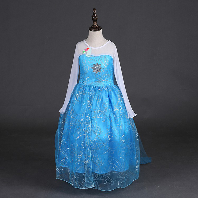 99b5508915 US $3.87 12% OFF|Samgami baby 2018 girls dress Elsa and Anna Dress Custom  Cosplay Summer Princess Costume for Children dress Girls party wearing-in  ...