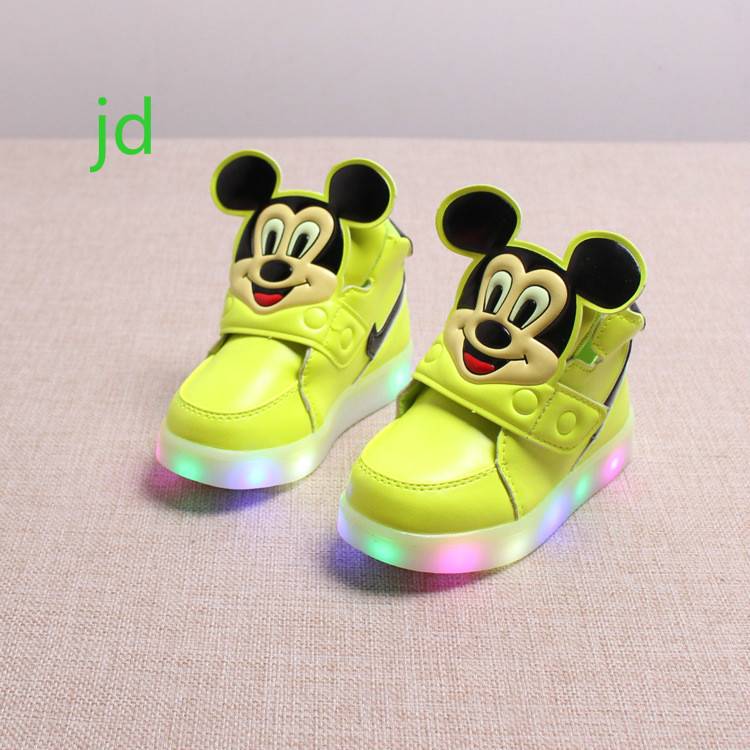 Spring New Children Leisure Led Girls Luminescent Sports Baby Luminous Shoes Boys Glowing Kids Sneakers Lights