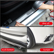 5D Car Stickers Carbon Fiber Rubber Styling Trunk Bumper Door Plate Sill Protector Goods For KIA Audi Ford Hyundai Accessories