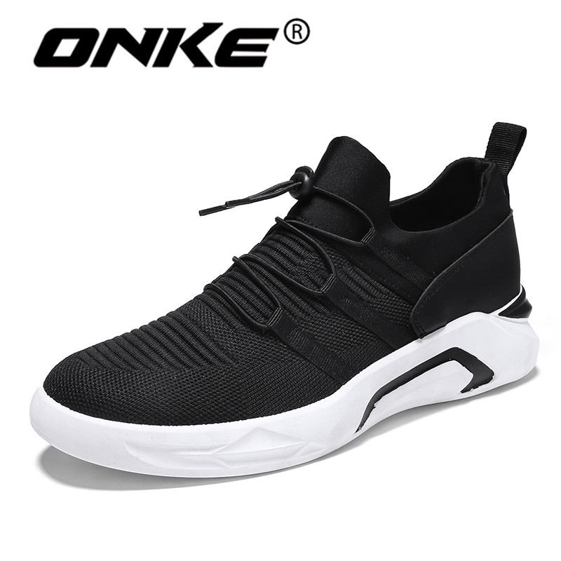 New Arrival Summer Mens Sneakers FlyKnit Breathable Running Men Shoes Non Slip Sports Ma ...