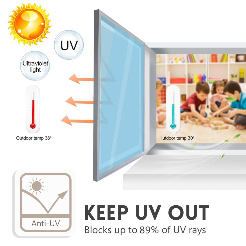 40 50 60 70 80 90x300cm One Way Mirror Window Film Anti UV Heat Control Window Sticker Vinyl Glass Self adhesive decor Film in Decorative Films from Home Garden