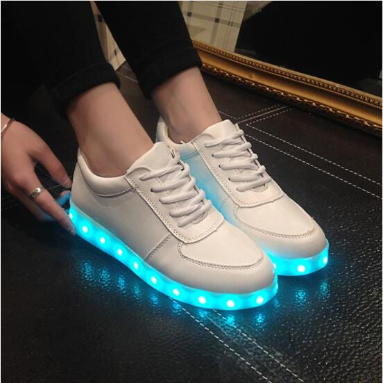 High Quality Eur Size 27-44 7 Colors Kid Luminous Sneakers Glowing USB Charge Boys LED Shoes Girls Footwear LED Slippers White plus size 35 40 led shoes women glowing 7 colors led shoes for adults fashion luminous led light shoes woman sapato feminino