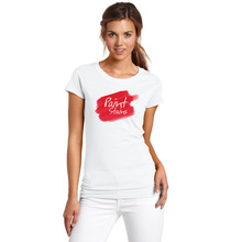 Summer Red Paint Stains T-shirts for Women Good Quality Blusa Comfortable Brand Female T-shirt Cotton Harajuku Tee Shirts