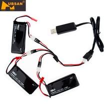 Original hubsan x4 h502s h502e 7.4 v 610 mah 15c lipo batería 4.5wh batería + Cargador usb cable Set Para RC Quadcopter Drone Partes