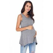 Women Summer Pregnant Nursing Tops Clothes Casual Sleeveless Breastfeeding Maternity T-Shirt