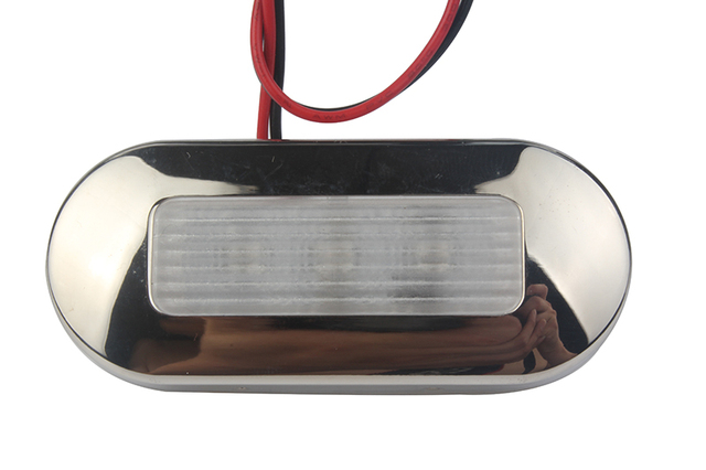 12V Marine Yacht RV LED Top Light Blue/White Stainless Steel Anchor Stern Light Boat Accessories