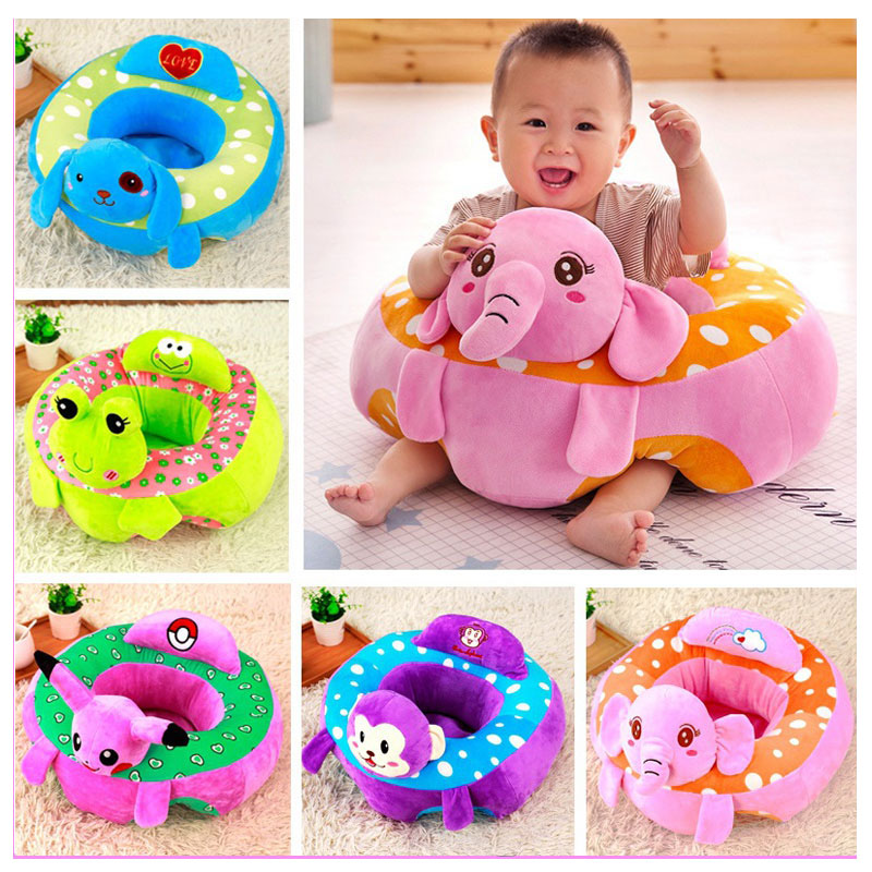 Baby Support Seat Soft Car Pillow Cushion Sofa Mutifunctional Baby Pillow Decoration Sofa Stool Chair Child Safety Seat Backrest printing colorful round pattern linen sofa cushion pillow case
