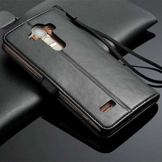 De moda de alta calidad Flip caso de la cubierta para LG G4 bolsos de cuero Capa Fundas magnético funda para LG G4 H810 H818 VS999 F500 caso