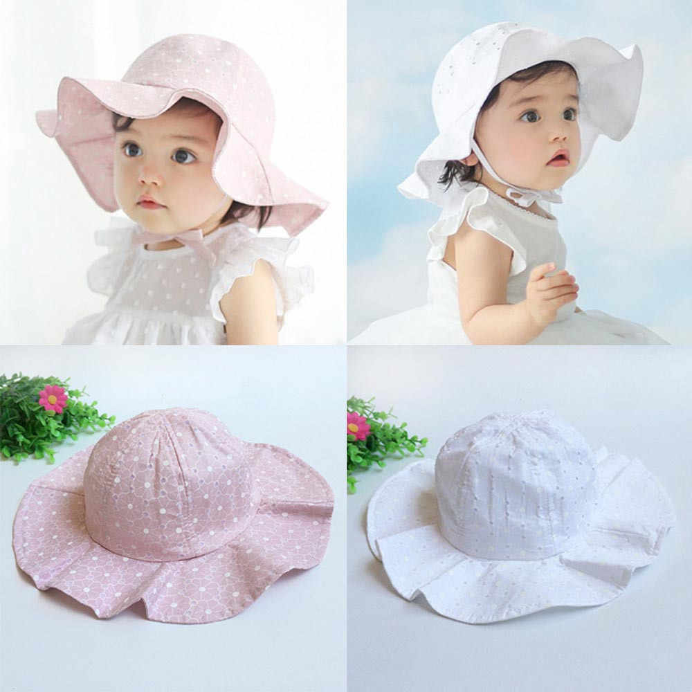 Baby hats Toddler Infant Kids Sun Cap Summer Outdoor Baby Girls Boys Sun  Beach Cotton Hat be9c01fdacfa