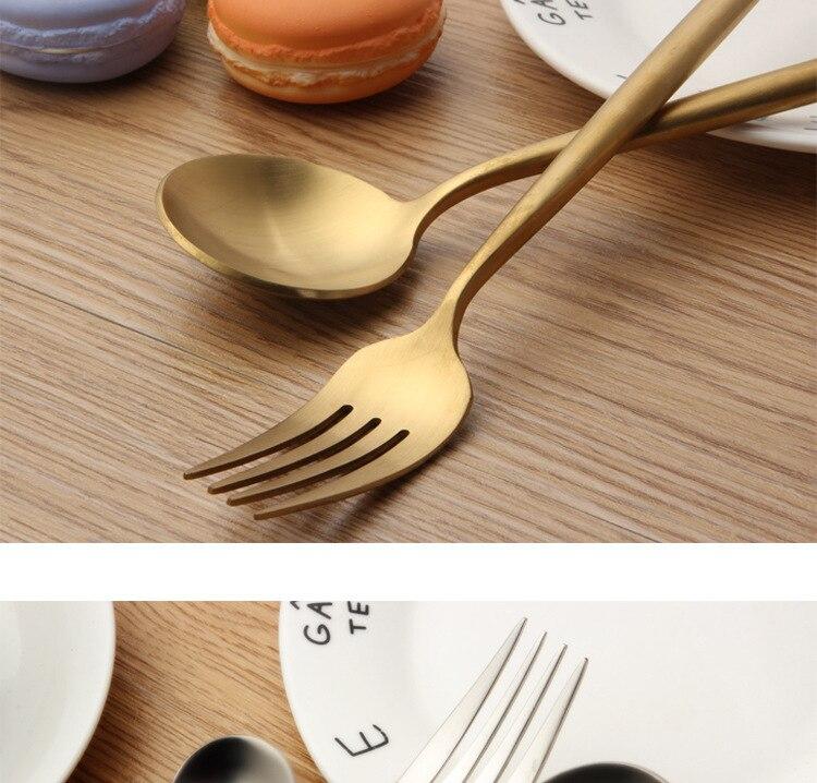 de aço inoxidável conjunto faca garfo conjunto