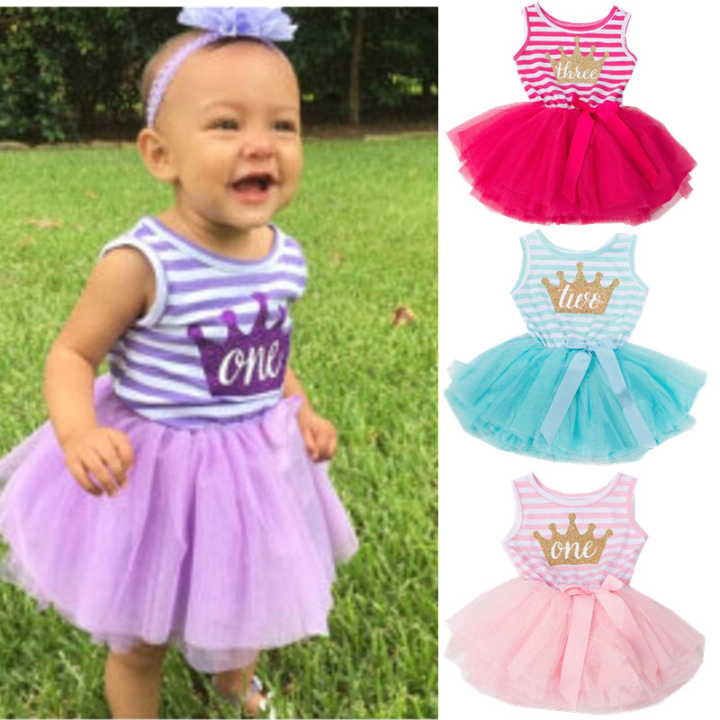 4b5d9737b6eb3 US $8.79 New 2019 summer infant party dress fashion girls infant ...