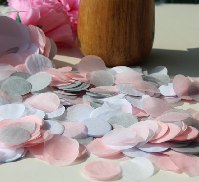 Blush Pink Grey Silver White Wedding Marriage Party Guests Throwing