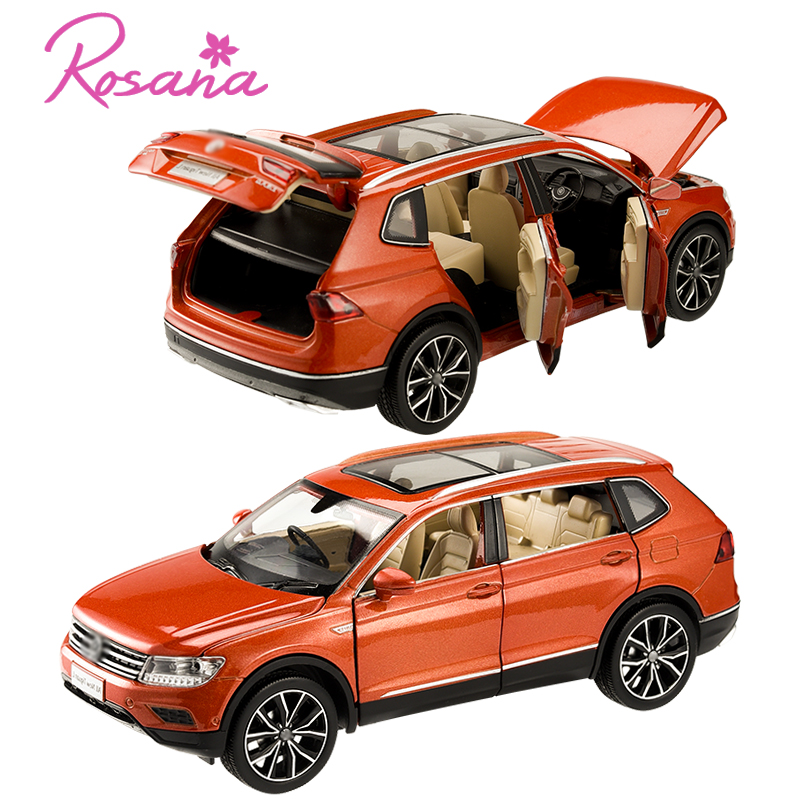 1/32 VW Volkswagen Tiguan L SUV Alloy Sound And Light Pull