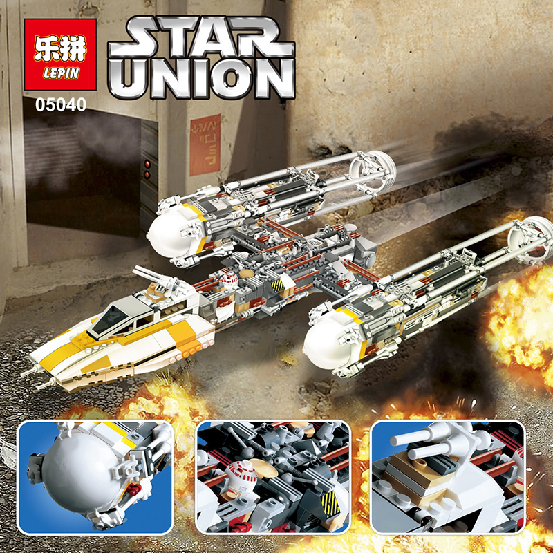 Lepin Sttar wars 05040 1473Pcs Y-wing Attack Starfighter Building Blocks Assembled bricks Toys gift Compatible with 10134 lepin 02012 city deepwater exploration vessel 60095 building blocks policeman toys children compatible with lego gift kid sets