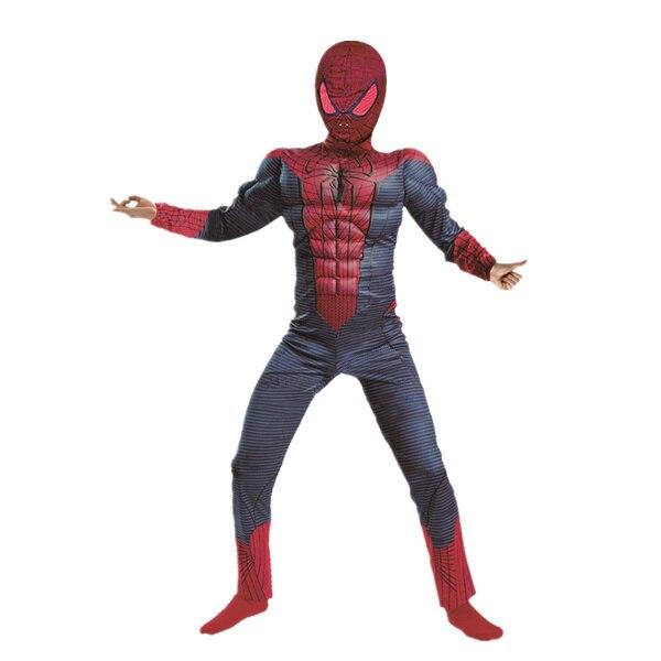 Niños Ropa de Carnaval Chico Increíble Trajes de cosplay de Spiderman Muscle Marvel Fantasía Superhéroe Fiesta de Halloween Disfraz