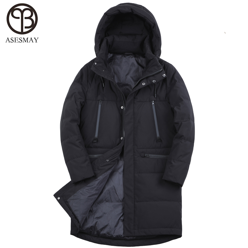 f5b80fe00be Asesmay 2018 men winter jacket white duck down thick warm brand clothing  high quality goose male coat down parkas russian coats