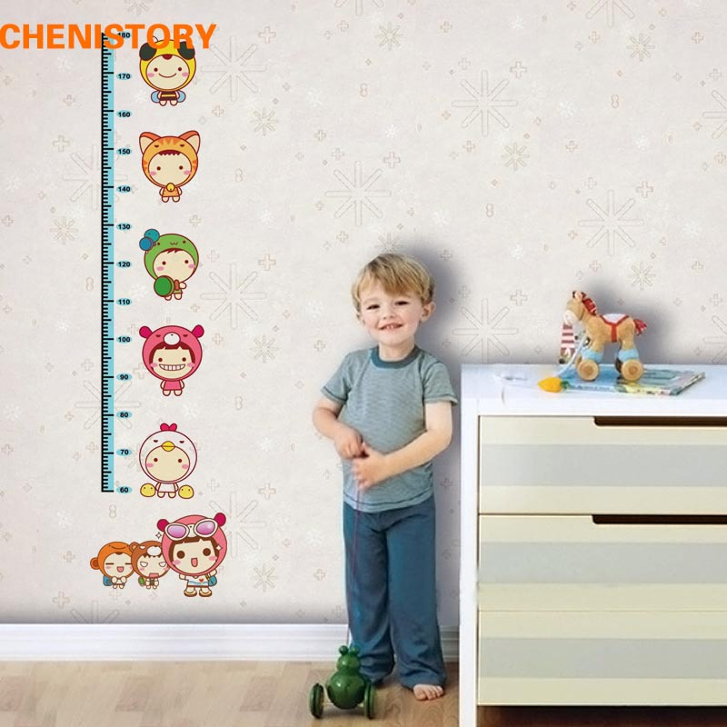 180cm Carton Animal Lovely Children Baby Height Growth Chart