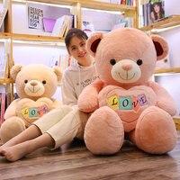 100cm Stuffed Animal Baby Dolls Kawaii Cartoon bear Plush toys Kids Present Toys Children Baby Birthday Gift