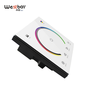 Image 4 - RGBW Touch Panel Switch Crystal DC12 24V Controller Light Dimmer Switch LED Strip Light Switch Tempered Glass Wall Switch