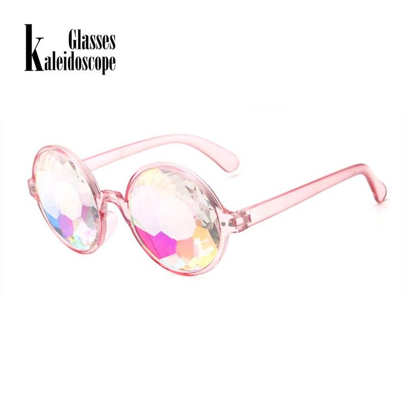 245311ba29 Partido caleidoscopio gafas para Mujeres Hombres Festival Rave EDM  futurista gafas de sol difractada lente Retro