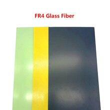 Черный желтый стекловолокно шаблон доска лист эпоксидное стекловолокно G10 Fr4 стекловолокно пластина для Diy нож ручка материал 300x170 мм