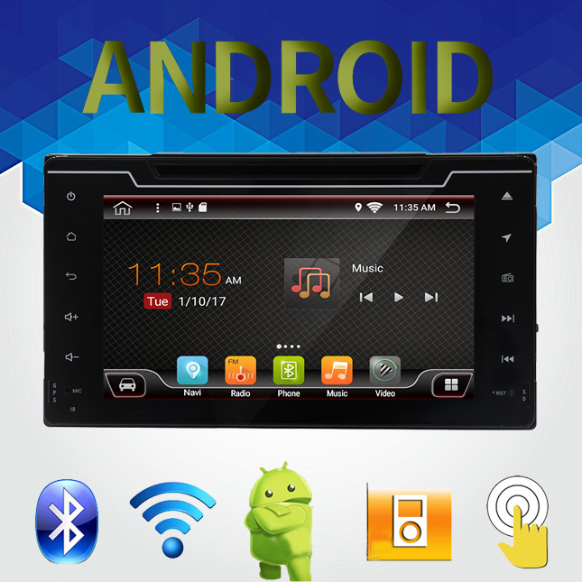 8 2 din Android 6.0 HD 1024*600 Car Radio DVD Player for Toyota Corolla 2017 With GPS Bluetooth Wifi DVR Bluetooth support
