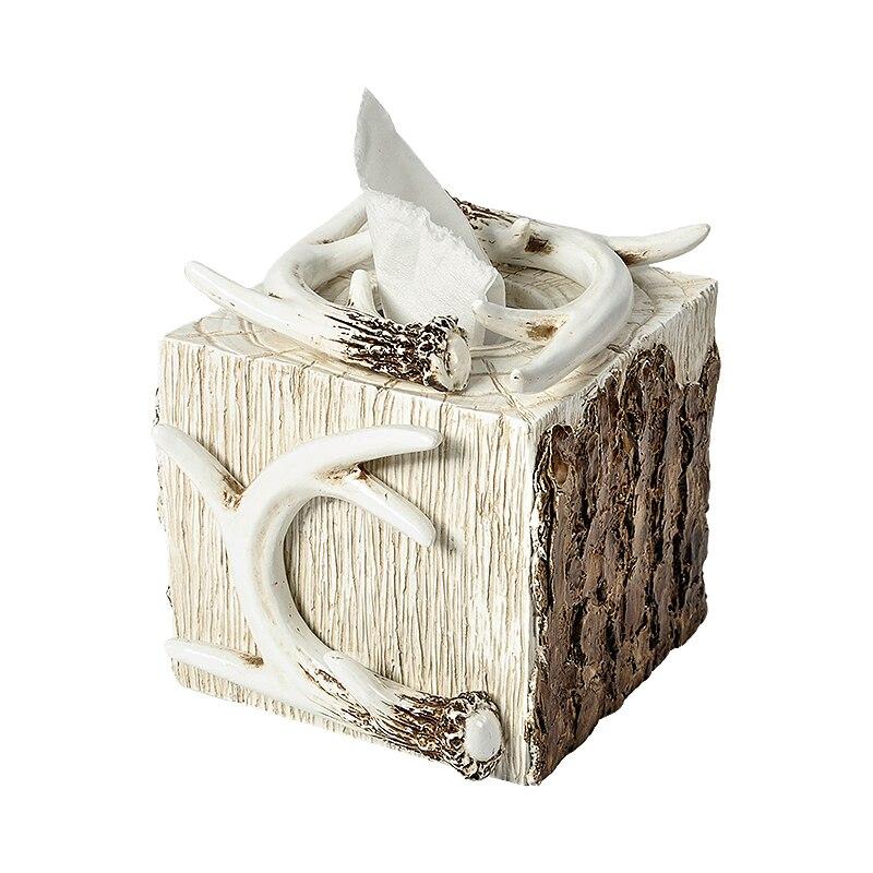 Creatieve originele leven stijl hars decoratieve tissue doos Retro Stone Leeftijd Bar Winkel Kantoor Art Decoratie Roll papier doos-in Zakdoekdozen van Huis & Tuin op  Groep 1