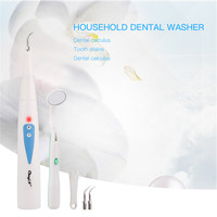 Electric Sonic Vibration Dental Scaler Calculus Remover Tooth Stains Tartar Eraser Scraper Teeth Whitening Cleaning with Mirror