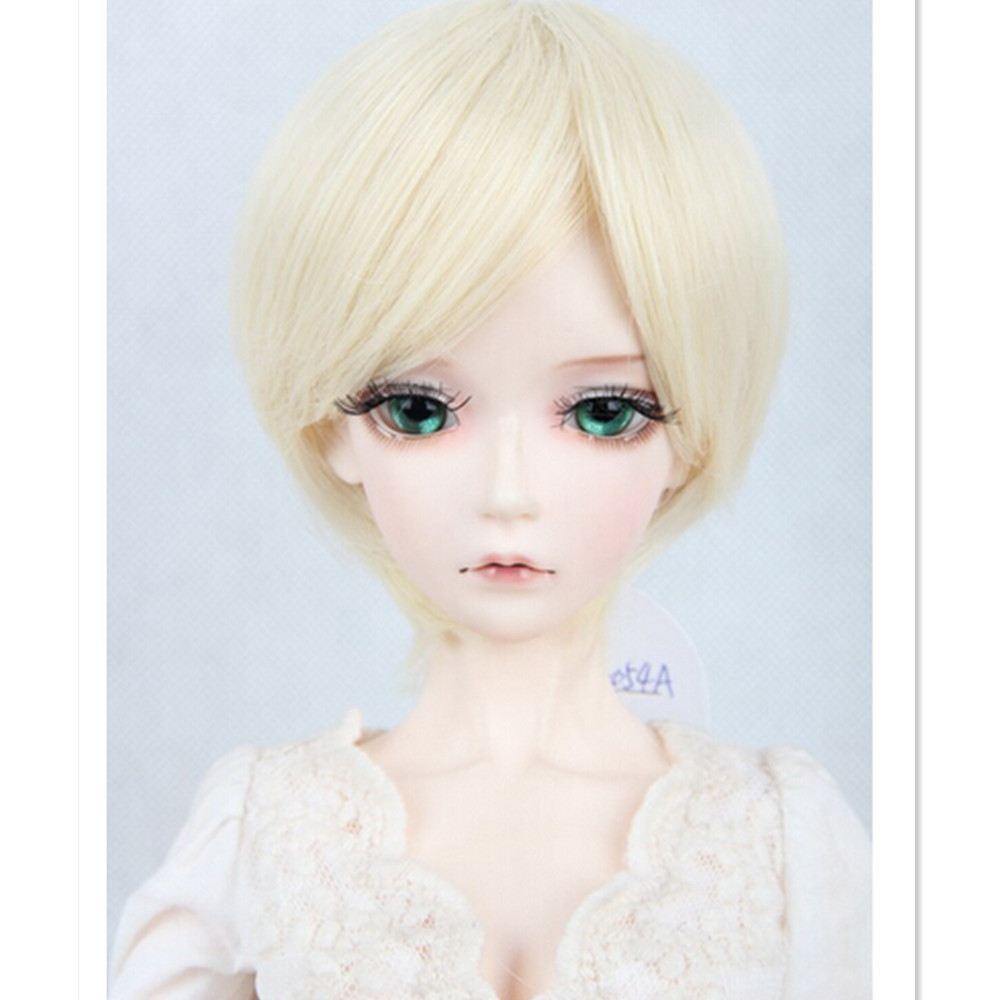 1/3 1/4 /16 BJD Wig Long Straight Doll Hair Accessories for Dolls,Cute Black Brown BJD Doll Wigs Synthetic Hair for Dolls