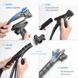 Image 3 - Ugreen Cable Holder Organizer 25mm Diameter Flexible Spiral Tube Cable Organizer Wire Management Cord Protector Cable Winder