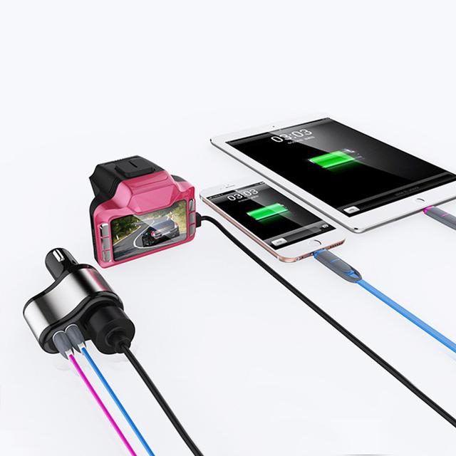 Dual USB Electronic Cigarette Lighter Car Lighter Charger Socket Splitter Adapter 3.1A Charger for iPhone Phone 12V-24V