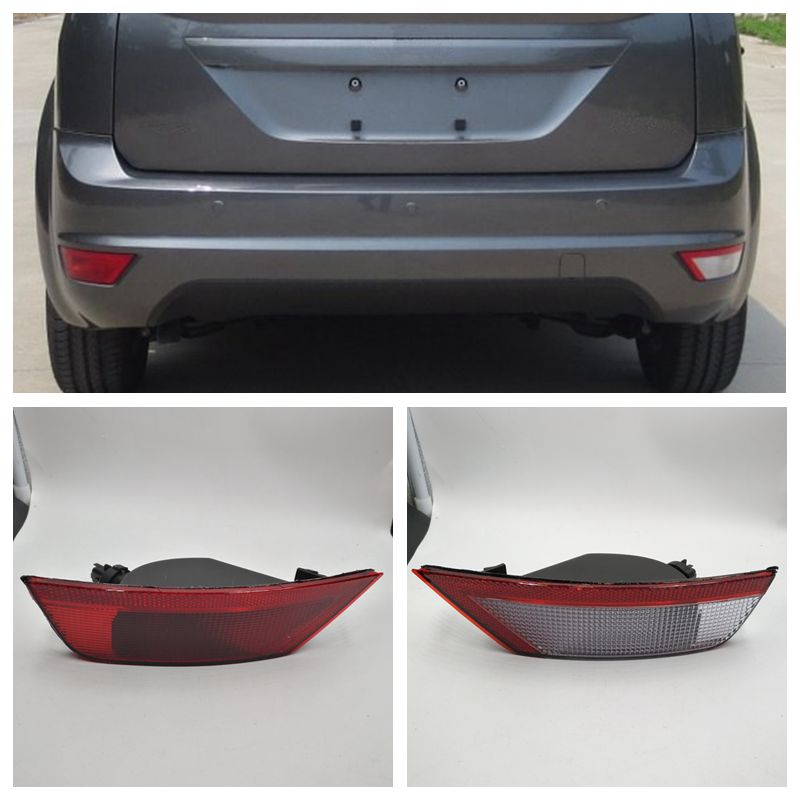 Cafoucs Car Rear Bumper Reflector Light For Ford Focus 2009-2014 For Ecosport 2013-2015 Hatchback Tail Fog Lamp car rear trunk security shield cargo cover for ford ecosport 2013 2014 2015 2016 2017 high qualit black beige auto accessories