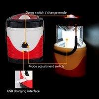 الجدة المحمولة خيمة التخييم فانوس ضوء مصباح متعددة الوظائف قابلة للتغيير اللون للمشي الأسماك