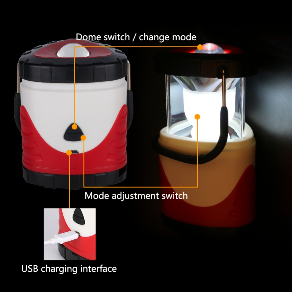 Novelty Portable Rechargeable Outdoor Camping Lantern Tent Light ...