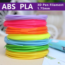 цена на abs1.75mm  filamen for 3d pen 3d print pen 3 d pens safety plastic 3d printing material  best gift 20color  Buy two -10%