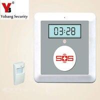 K4 YobangSecurity Alimentado Por Batería 433 MHz Seguridad En El Hogar Sistema de Alarma Inalámbrica GSM Ancianos con Botón De Llamada de Emergencia PIR Detector