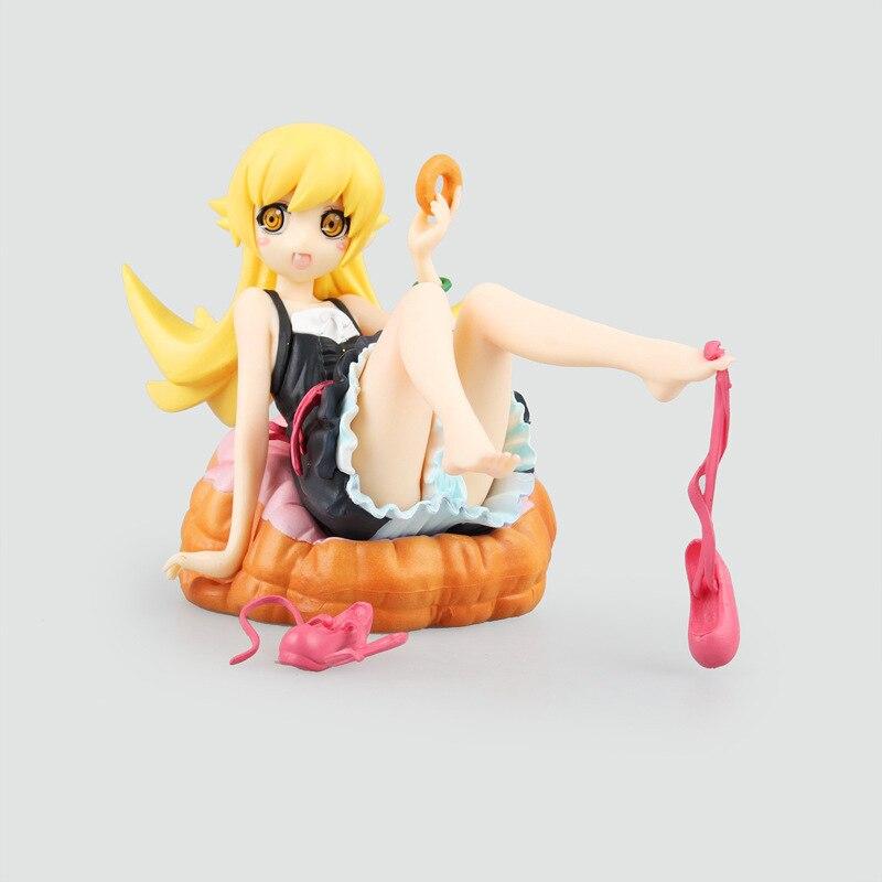 12cm Anime Monogatari Nisemonogatari Oshino Shinobu Painted 1/8 Scale Pre-painted PVC Action Figures Toys Brinquedos Collection