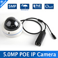 "1.8"" SONY IMX178 5MP IP Camera POE Outdoor Waterproof IP66,Full HD 5MP 25/30FPS Network Dome Camera, IR Range 10m, 3.6mm Lens"