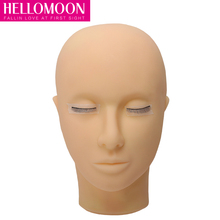 Closed Eyes Mannequin Head Makeup Eyelash Extension Practice Model Hats Hairs Glasses Display for Wigs Showcase