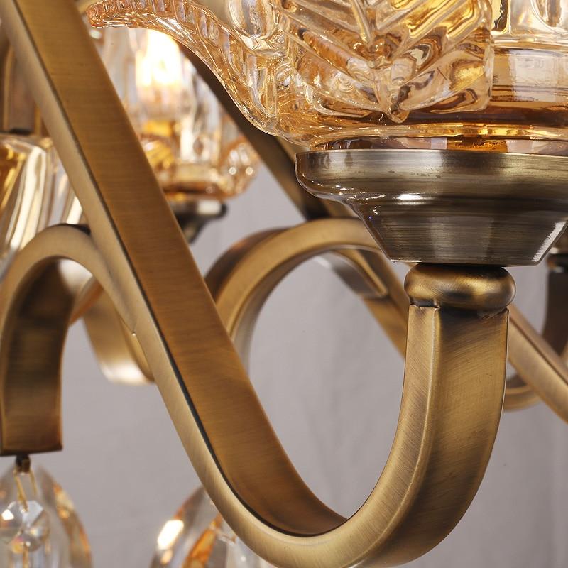 Yaşayış otağı lampaları üçün büllur çilçıraq şüşəli - Daxili işıqlandırma - Fotoqrafiya 4