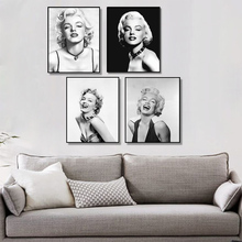 Black And White Marilyn Monroe Wall Art Paintings Decorative Posters Prints Living Room Mural Canvas Painting