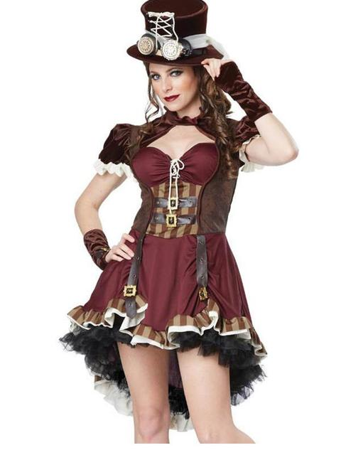 2017 fashion female pirate costume adult steampunk womens costume ladies halloween costumes hot sale 2017 - Pirate Halloween Costume For Women