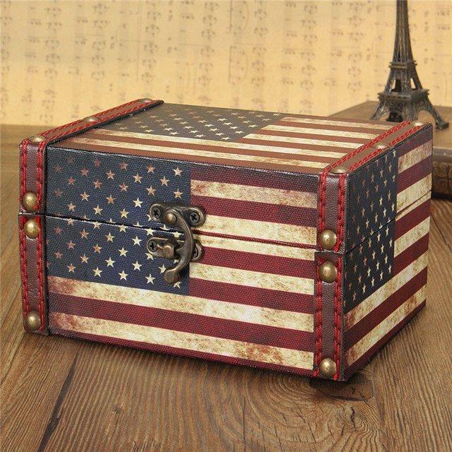 European Style Vintage Jewelry Box Wood Jewellery Organizer Storage