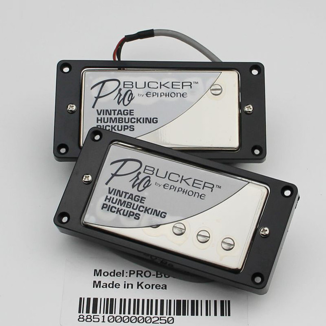 1 Set Chrome ProBucker N and B Electric Guitar Pickups with Pro