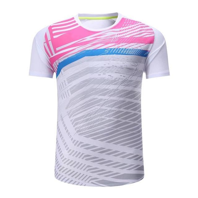 22f666389b78 Новые футболки для бадминтона мужчины/женщины, теннисная рубашка,  Спортивная ...
