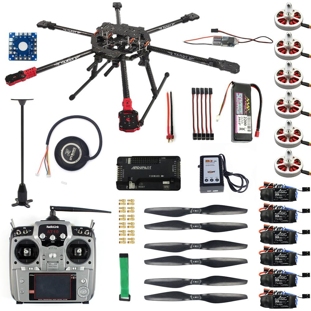 Full Kit Hexacopter GPS Drone Aircraft Kit Tarot FY690S Frame 750KV Motor GPS APM 2.8 Flight Control AT10II Transmitter F07803-AFull Kit Hexacopter GPS Drone Aircraft Kit Tarot FY690S Frame 750KV Motor GPS APM 2.8 Flight Control AT10II Transmitter F07803-A