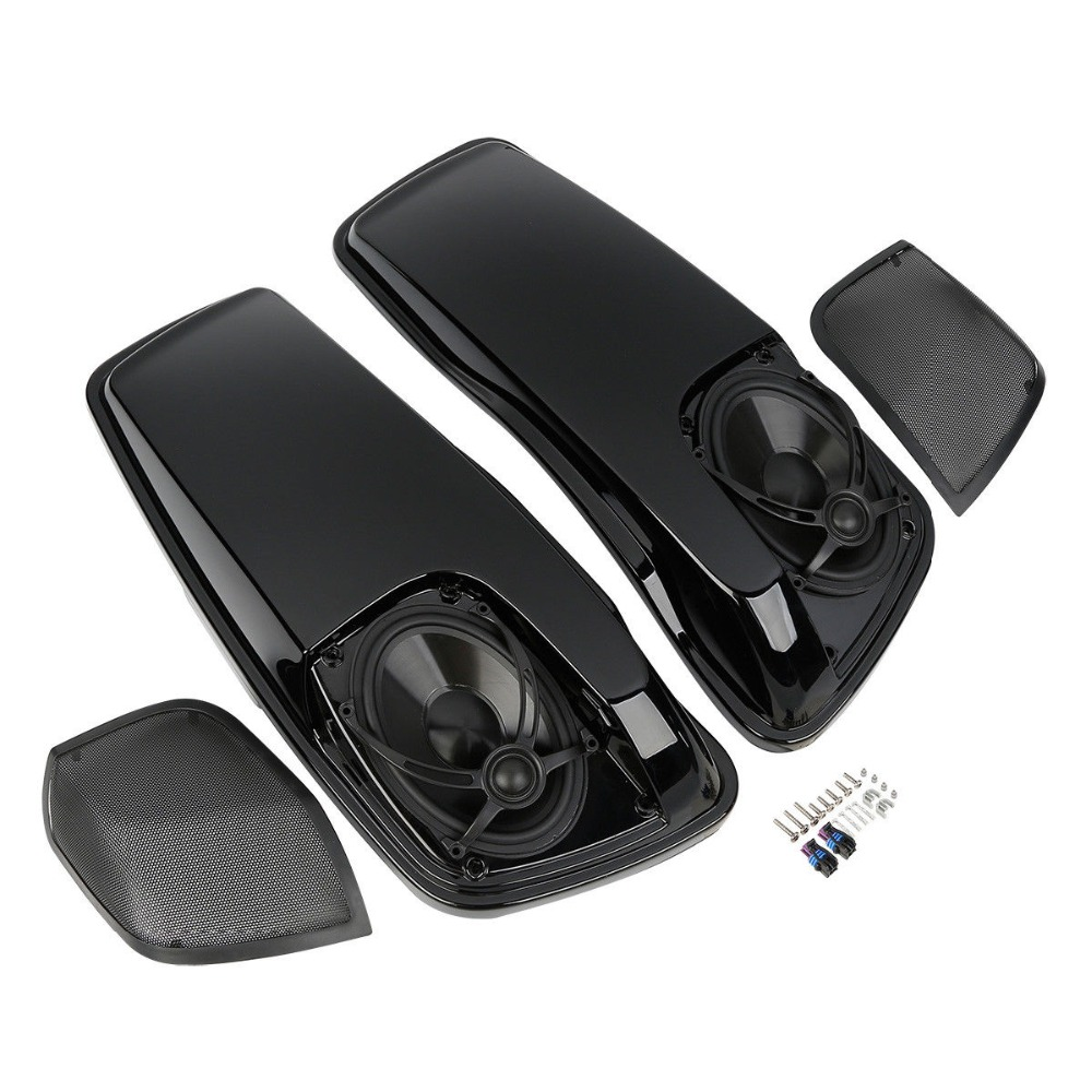 """Motorcycle Saddlebag Lids W/ 5""""X7"""" Speakers For Harley Touring Electra Street Glide 14-18"""