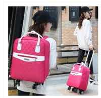 7b6c72040de5 Сумка на колесиках для путешествий женский дорожный рюкзак с колесами  чемодан на колесах Оксфорд большой емкости